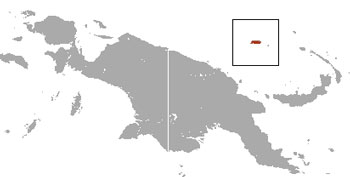 Admiralty Island Cuscus Range Map (Admiralty Islands, Papua New Guinea)