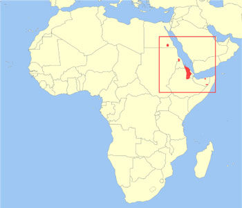 africa map nubian desert