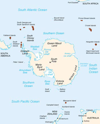Gentoo Penguin Range Map (Antarctic Islands)
