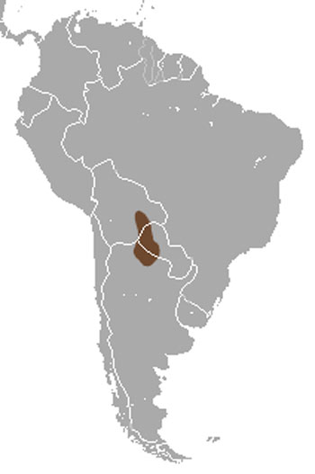 Greater Fairy Armadillo Range Map (South America)