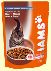 Iams Adult with Beef in Gravy
