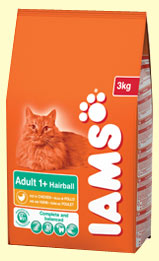 Iams Adult Hairball Control Rich in Chicken