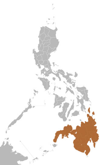 Mindanao Tree Shrew Range Map (Philippines)