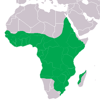 Nile Crocodile Range Map (Africa & W Madagascar)